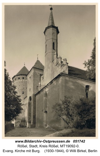 Rößel, Evang. Kirche mit Burg
