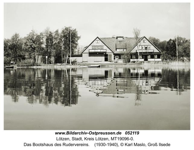 Lötzen, Das Bootshaus des Rudervereins