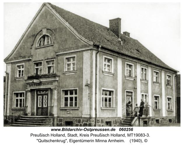 """Preußisch Holland, """"Quitschenkrug"""", Eigentümerin Minna Arnheim"""
