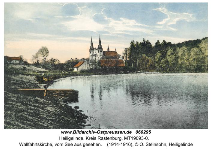 Heiligelinde, Wallfahrtskirche, vom See aus gesehen