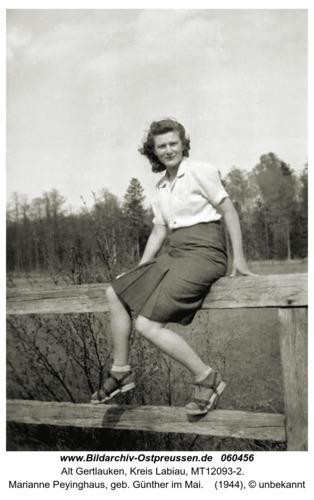 Alt Gertlauken, Marianne Peyinghaus, geb. Günther
