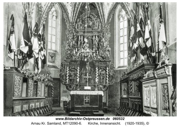 Arnau Kr. Samland, Kirche, Innenansicht