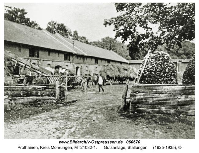 Prothainen, Gutsanlage, Stallungen