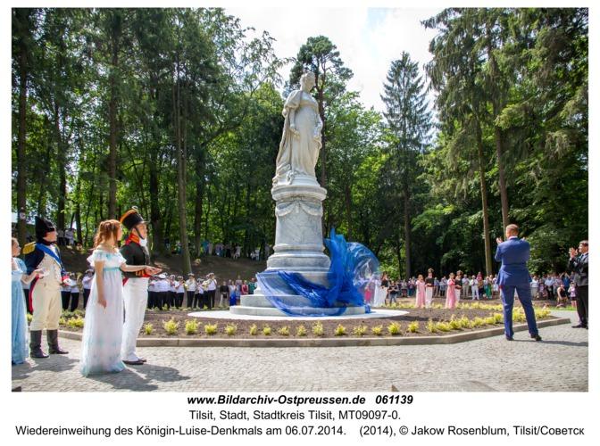 Tilsit, Wiedereinweihung des Königin-Luise-Denkmals am 06.07.2014