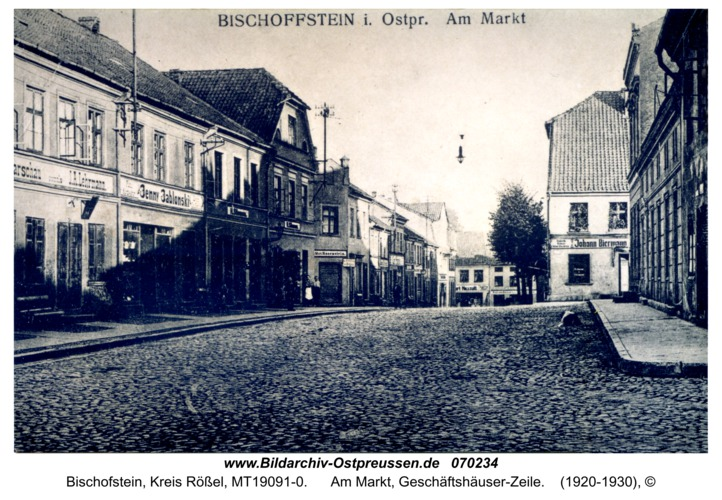 Bischofstein, Am Markt, Geschäftshäuser-Zeile