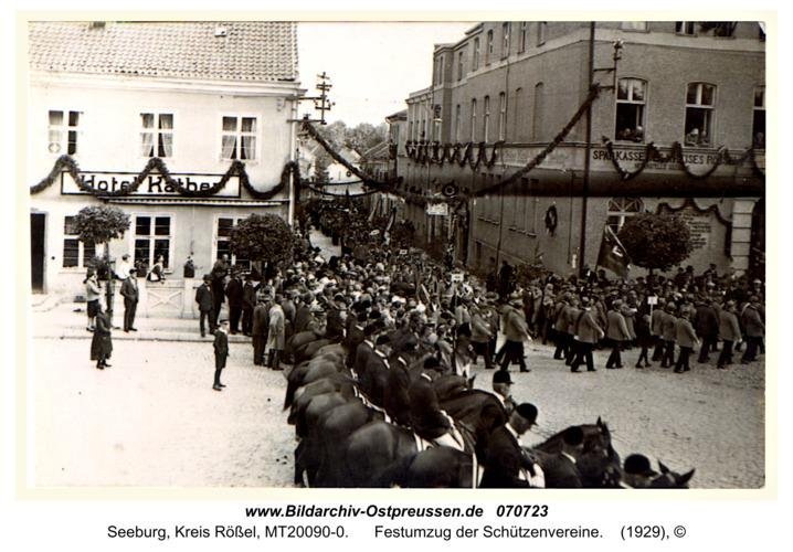 Seeburg, Festumzug der Schützenvereine