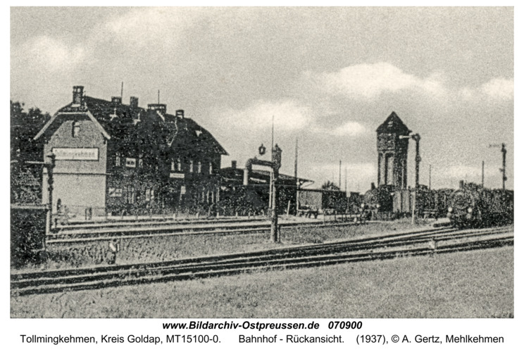 Tollmingkehmen, Bahnhof - Rückansicht