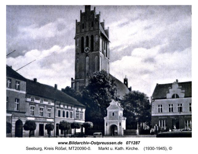 Seeburg, Markt u. Kath. Kirche