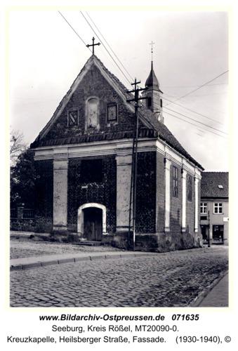 Seeburg, Kreuzkapelle, Heilsberger Straße, Fassade