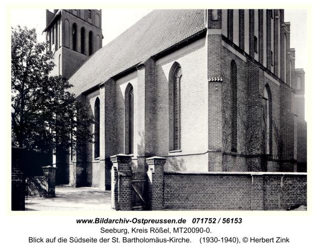 Seeburg, Blick auf die Südseite der St. Bartholomäus-Kirche