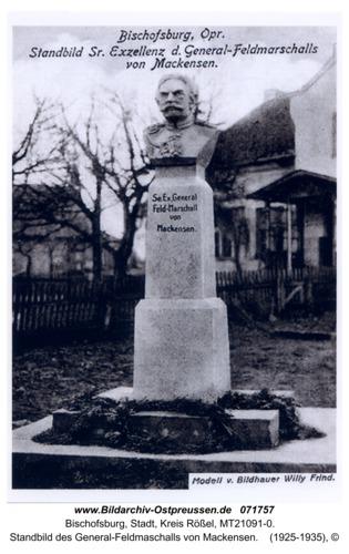 Bischofsburg, Standbild des General-Feldmaschalls von Mackensen