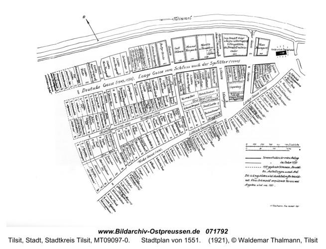 Tilse, Stadtplan von 1551