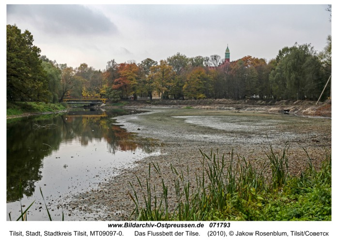 Tilse, Das Flussbett der Tilse