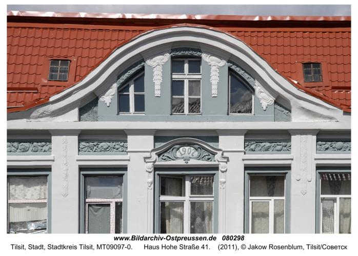 Tilsit (Советск), Haus Hohe Straße 41