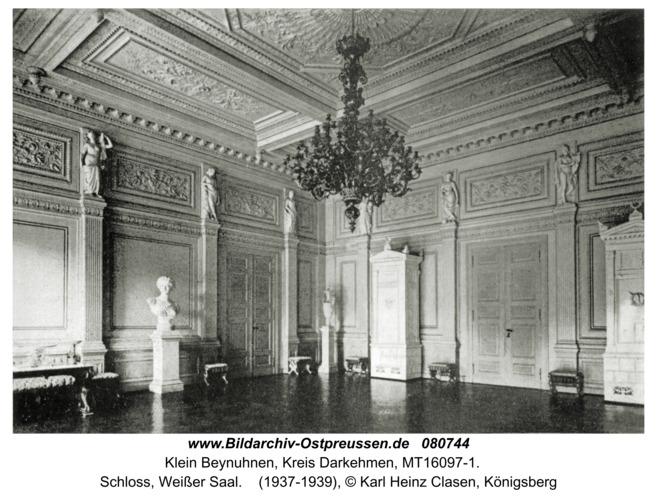 Klein Beynuhnen, Schloss, Weißer Saal