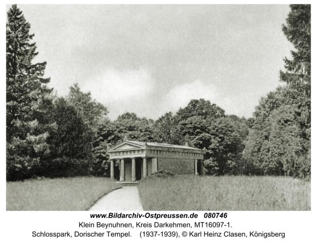 Klein Beynuhnen, Schlosspark, Dorischer Tempel