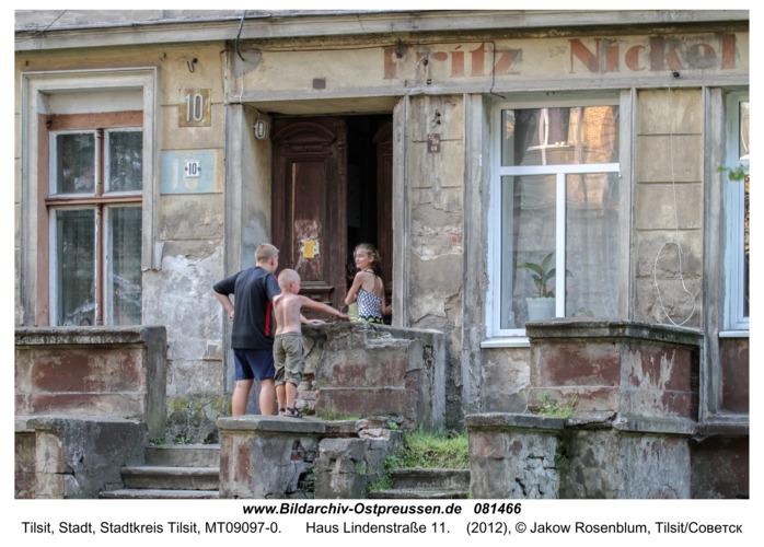Tilsit (Советск), Haus Lindenstraße 11