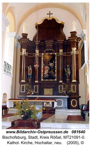 Bischofsburg, Kathol. Kirche, Hochaltar, neu