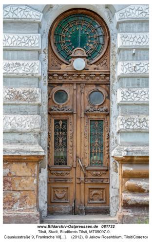 Tilsit (Советск), Clausiusstraße 9, Franksche Villa, Eingangstür