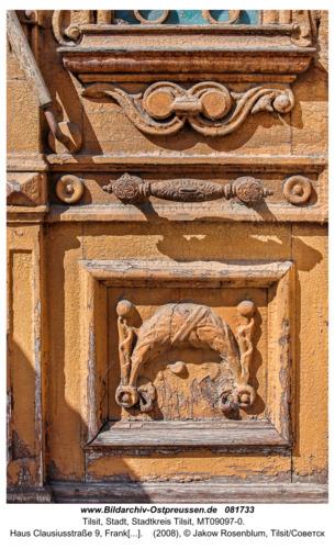 Tilsit (Советск), Haus Clausiusstraße 9, Franksche Villa, Eingangstür
