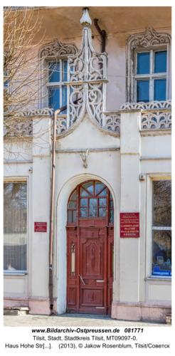 Tilsit (Советск), Haus Hohe Straße 50