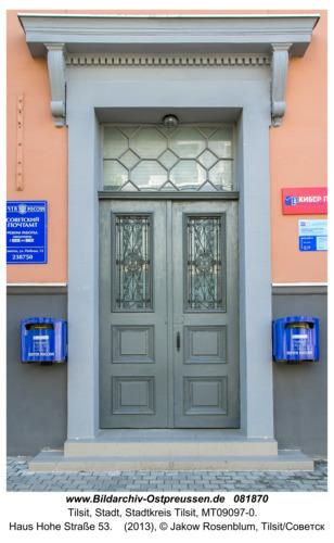 Tilsit (Советск), Haus Hohe Straße 53