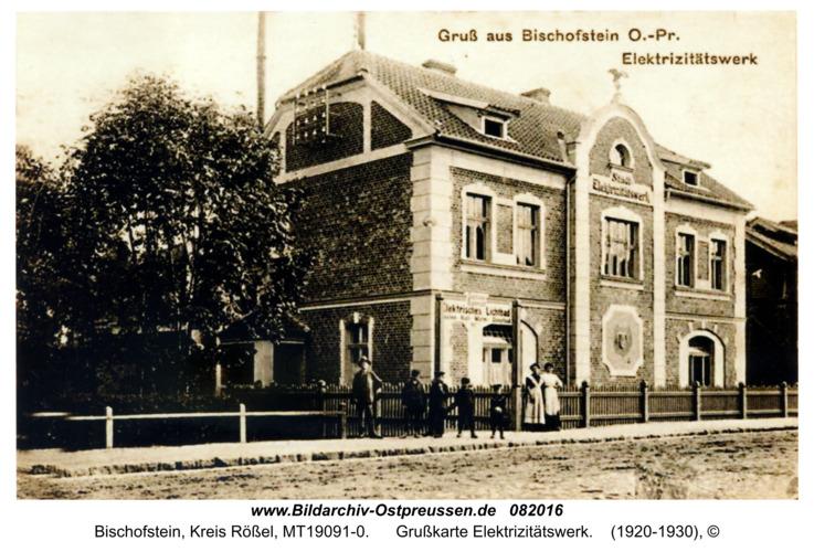 Bischofstein, Grußkarte Elektrizitätswerk