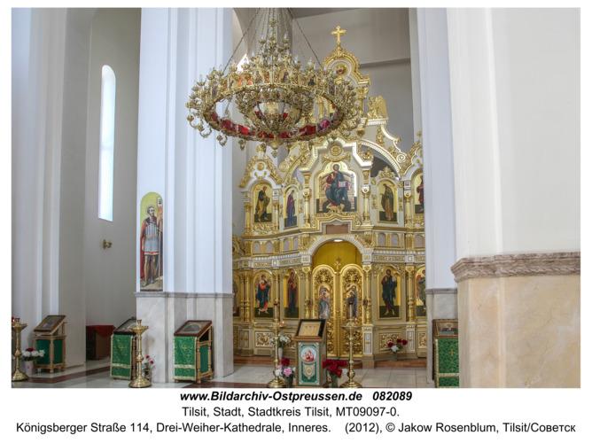 Tilsit (Советск), Königsberger Straße 114, Drei-Weiher-Kathedrale, Inneres