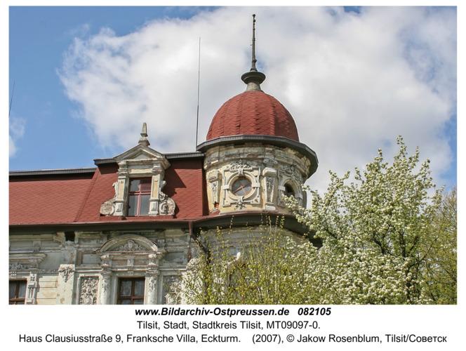 Tilsit (Советск), Haus Clausiusstraße 9, Franksche Villa, Eckturm