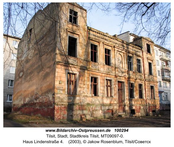 Tilsit (Советск), Haus Lindenstraße 4