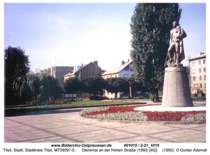 Tilsit, Denkmal an der Hohen Straße (1990) [4G]