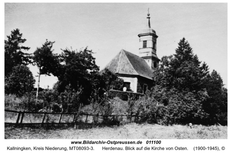 Herdenau. Blick auf die Kirche von Osten