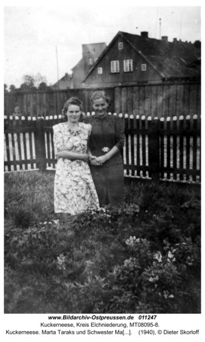 Kuckerneese. Marta Taraks und Schwester Margret Skorloff geb. Taraks