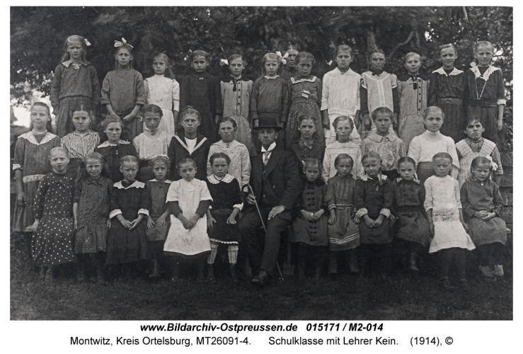 Montwitz, Schulklasse mit Lehrer Kein