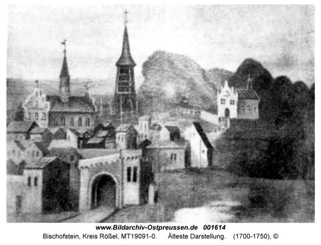 Bischofstein, Älteste Darstellung