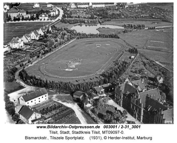 Tilsit, Bismarckstr., Tilszele Sportplatz