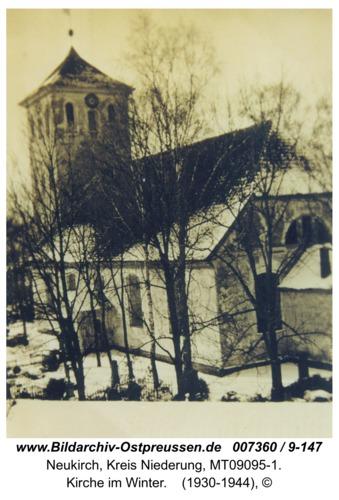 Neukirch 191, Kirche im Winter