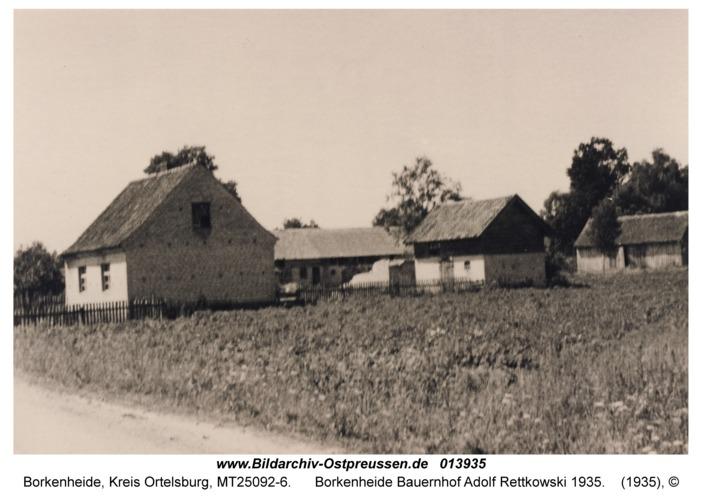 Borkenheide Bauernhof Adolf Rettkowski 1935
