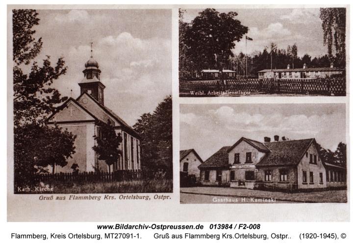 Flammberg, Gruß aus Flammberg Krs.Ortelsburg, Ostpr.