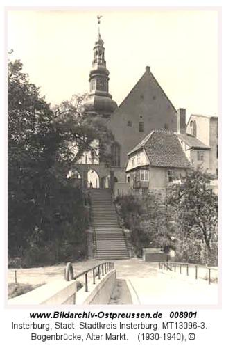 Insterburg, Bogenbrücke, Alter Markt