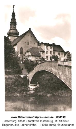Insterburg, Bogenbrücke, Lutherkirche