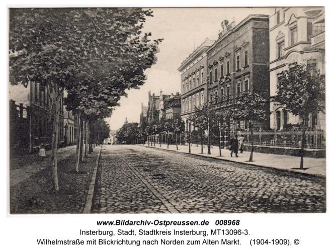 Insterburg, Wilhelmstraße mit Blickrichtung nach Norden zum Alten Markt
