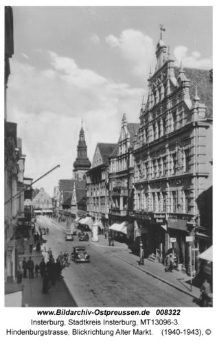 Insterburg, Hindenburgstraße, Blickrichtung Alter Markt