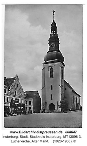 Insterburg, Lutherkirche, Alter Markt