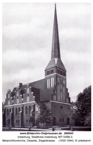 Insterburg, Melanchthonkirche, Ostseite, Ziegelstraße