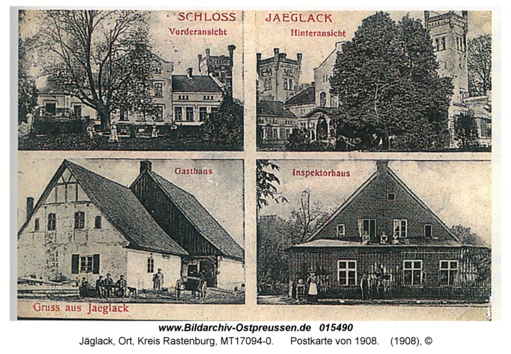 Jäglack, Postkarte von 1908