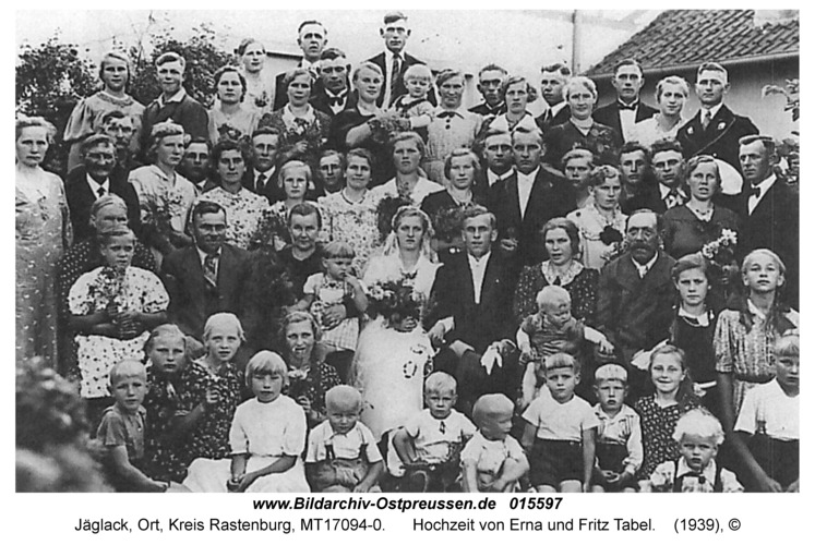 Jäglack, Hochzeit von Erna und Fritz Tabel