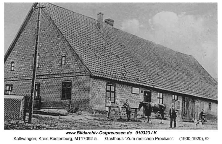 """Kaltwangen, Gasthaus """"Zum redlichen Preußen"""""""