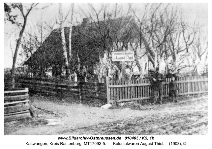 Kaltwangen, Kolonialwaren August Thiel