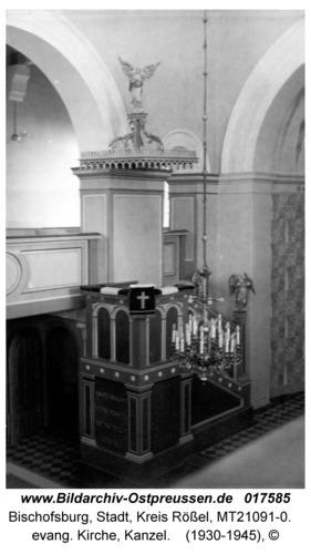 Bischofsburg, evang. Kirche, Kanzel